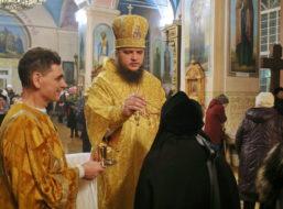 Всенощное бдение в Знаменском кафедральном соборе г. Борисоглебск