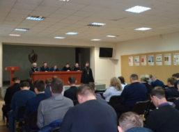 В Борисоглебском ОМВД прошла встреча со священником.