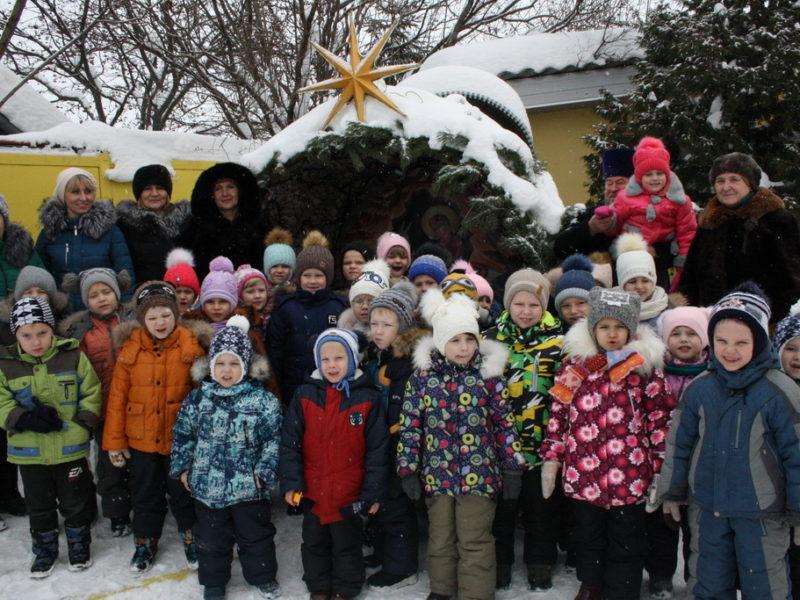 В Рождественские Святки Казанский храм посетили две группы детей воспитанников детского сада МК ДОУ БГО д/с №7